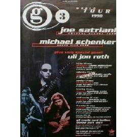 Joe SATRIANI - G3 '98 world tour - Original Promo Poster - AFFICHE / POSTER envoi en tube