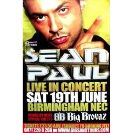 SEAN PAUL - Birmingham NEC 19th June 2004 (K) - AFFICHE / POSTER envoi en tube
