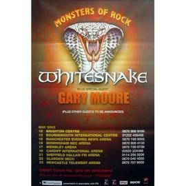 Whitesnake - Monsters Of Rocks - AFFICHE / POSTER envoi en tube