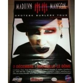 Marilyn MANSON - Grotesk Burlek Tour - AFFICHE / POSTER envoi en tube