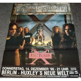Iron Maiden - X-Factor Tour 1995 - AFFICHE / POSTER envoi en tube