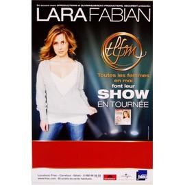 Lara Fabian - TLFM - En tournée - AFFICHE / POSTER envoi en tube