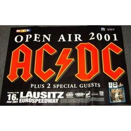 AC/DC - Open Air 2001 - AFFICHE / POSTER envoi en tube
