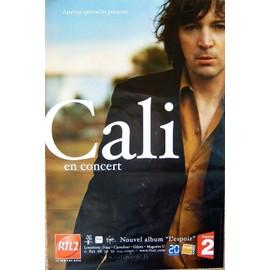 CALI - L'Espoir - En Concert - AFFICHE / POSTER envoi en tube