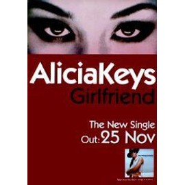 ALICIA KEYS - Girlfriend - AFFICHE / POSTER envoi en tube