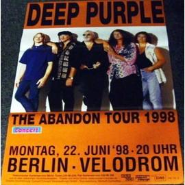 Deep Purple - Abandon Tour 1998 - AFFICHE / POSTER envoi en tube