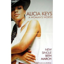 Alicia Keys - Worth - AFFICHE / POSTER envoi en tube