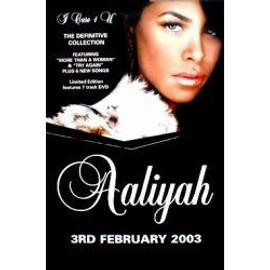 AALIYAH - I care 4 U - The definitive collection (Q) (K) - AFFICHE / POSTER envoi en tube