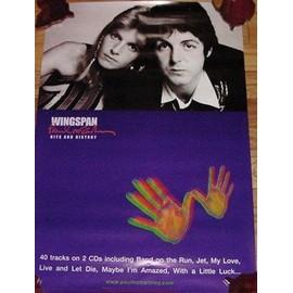 Paul McCartney - Wingspan - AFFICHE / POSTER envoi en tube