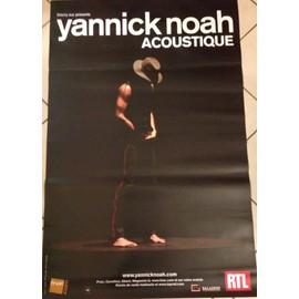 Yannick NOAH - Acoustique - AFFICHE / POSTER envoi en tube