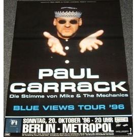 Paul Carrack - Blue Views Tour 1996 - AFFICHE / POSTER envoi en tube