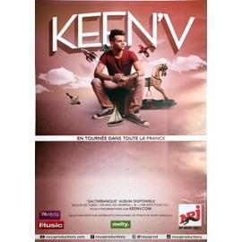 Keen'v - Saltimbanque Tournée 2014 - AFFICHE / POSTER envoi en tube
