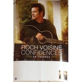 Roch VOISINE - Confidences - AFFICHE / POSTER envoi en tube