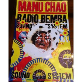 Manu Chao - Radio Bemba - Masque - AFFICHE / POSTER envoi en tube