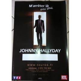 Johnny HALLYDAY - Tour 66 - AFFICHE / POSTER envoi en tube