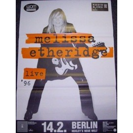 Melissa Etheridge - Live 1996 - AFFICHE / POSTER envoi en tube