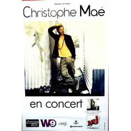 Christophe MAE - En Concert - AFFICHE / POSTER envoi en tube