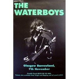 The Waterboys - Glasgow Barrowland - AFFICHE / POSTER envoi en tube