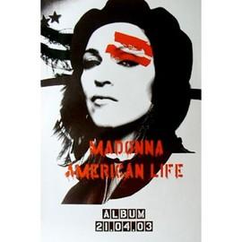 MADONNA - American Life - AFFICHE / POSTER envoi en tube