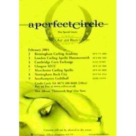 A Perfect Circle - Uk Tour 2004 - AFFICHE / POSTER envoi en tube
