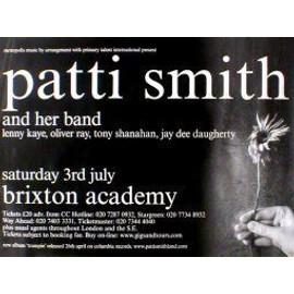PATTI SMITH - Brixton Academy 2004 - AFFICHE / POSTER envoi en tube