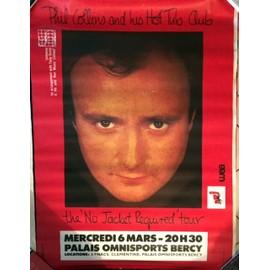 Phil COLLINS - No Jacket Required'tour - AFFICHE / POSTER envoi en tube