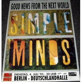 Simple Minds - Good News Tour 1995 - AFFICHE / POSTER envoi en tube