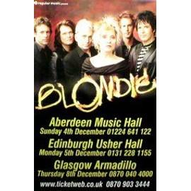 BLONDIE - Scottish Tour 2005 (Q) (K) - AFFICHE / POSTER envoi en tube