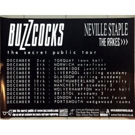 Buzzcocks - Secret Public Tour - AFFICHE / POSTER envoi en tube