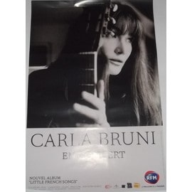Carla BRUNI - Little French Songs - AFFICHE / POSTER envoi en tube