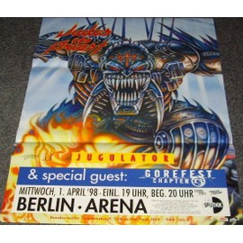 Judas Priest - Jugulator 1998 - AFFICHE / POSTER envoi en tube