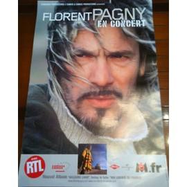 Florent PAGNY - - AFFICHE / POSTER envoi en tube