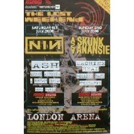 NINE INCH NAILS - Lost Weekend - London Arena 1.7.2000 (Q) (K) - AFFICHE / POSTER envoi en tube