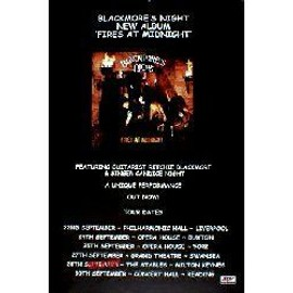 BLACKMORES NIGHT - Fires At Midnight - AFFICHE / POSTER envoi en tube