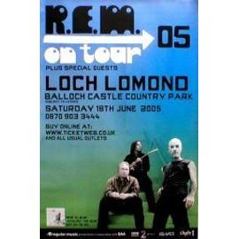 REM - R.E.M. - Loch Lomond, Scotland 16th June 2005 - Original Promo Poster - AFFICHE / POSTER envoi en tube