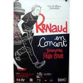 Renaud - Rouge Sang - AFFICHE / POSTER envoi en tube