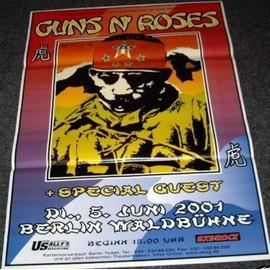 Guns N' Roses - Tour 2001 - AFFICHE / POSTER envoi en tube