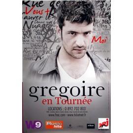 Grégoire - Vous + Moi - En Tournée - AFFICHE / POSTER envoi en tube