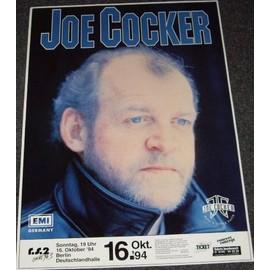 Joe Coocker - Tour 1994 - AFFICHE / POSTER envoi en tube