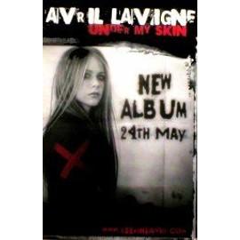 Avril LAVIGNE - Under My Skin - Original Promo Poster - AFFICHE / POSTER envoi en tube