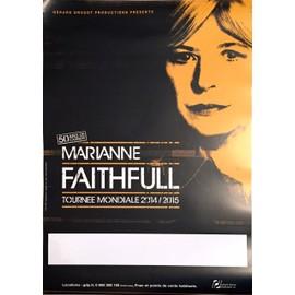 Marianne Faithfull - - AFFICHE / POSTER envoi en tube