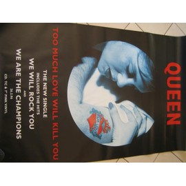 QUEEN - Too much love - Original Promo Poster - AFFICHE / POSTER envoi en tube