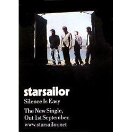 STARSAILOR - Silence Is Easy - Single - AFFICHE / POSTER envoi en tube