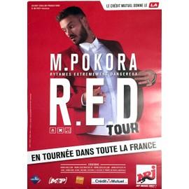 M POKORA - R.E.D. Tour - AFFICHE / POSTER envoi en tube