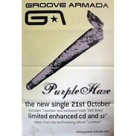 Groove Armada - Purple Haze - AFFICHE / POSTER envoi en tube