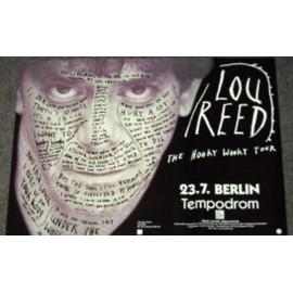 Lou Reed - Hooky Wooky Tour - AFFICHE / POSTER envoi en tube