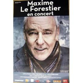 Maxime LE FORESTIER - - AFFICHE / POSTER envoi en tube