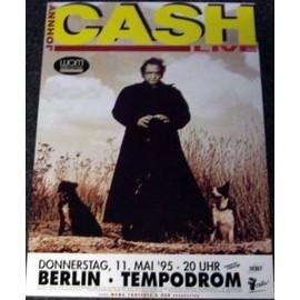 Johnny CASH - Live 1995 - AFFICHE / POSTER envoi en tube