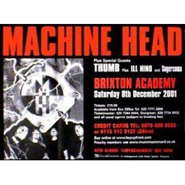 Machine Head - Brixton Academy - AFFICHE / POSTER envoi en tube