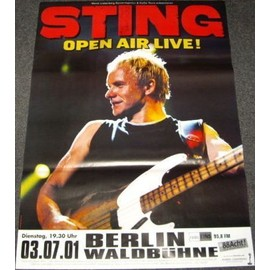 Sting - Open Air Live - AFFICHE / POSTER envoi en tube